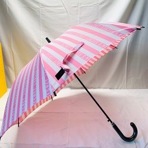 Victoria's Secret Full Size Umbrella ~Pink Stripes